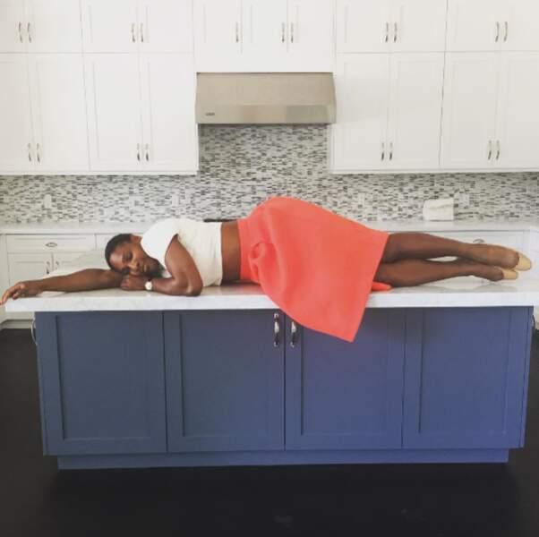 Serena Williams, en pleine séance de planking