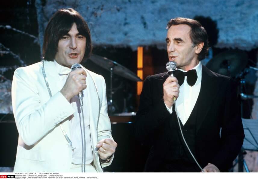 En duo à la télé avec Serge Lama en 1979