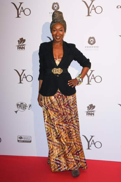 L'actrice Nadège Beausson-Diagne a sorti le grand jeu pour cette soirée ! Canon la tenue !