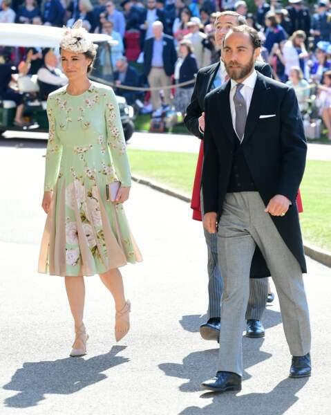 Pippa Middleton et sa robe fleurie