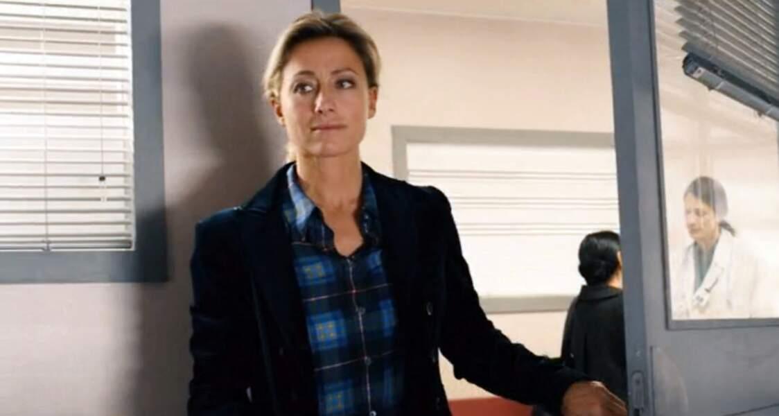 Anne-sophie Lapix fait son baptême de cinéma dans Bon rétablissement aux cotés de Gérard Lanvin en 2014