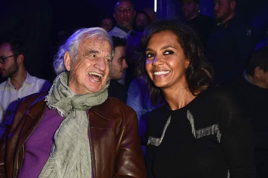 Jean-Paul Belmondo et Karine Le Marchand