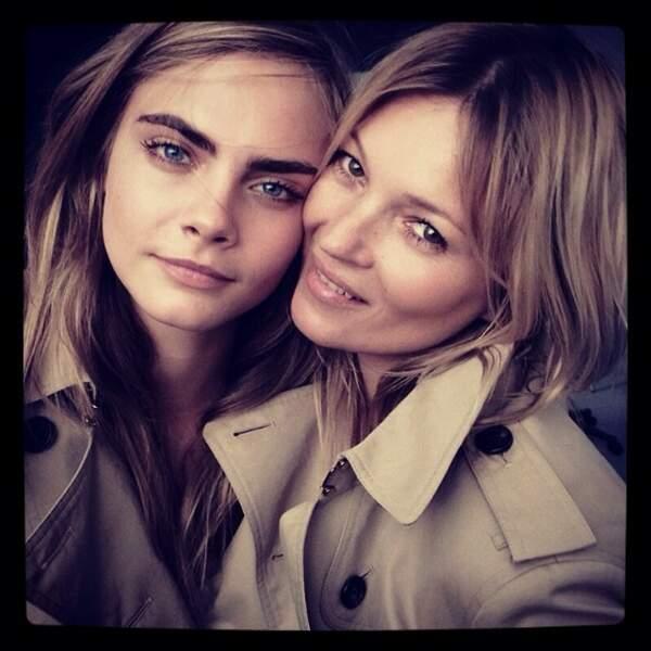 Cette photo avec Kate Moss est vraiment jolie.