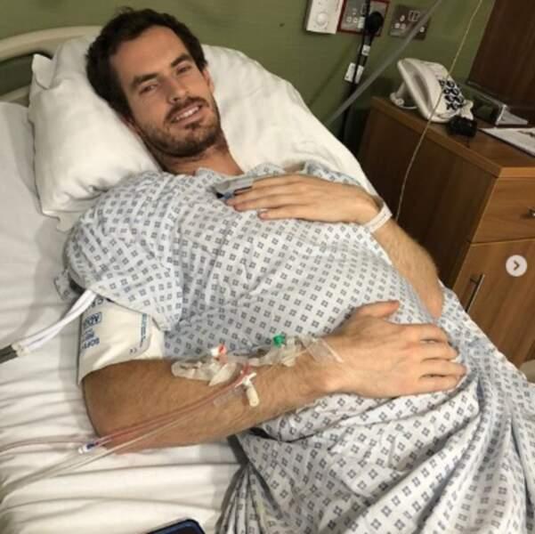 On souhaite un très bon rétablissement à Andy Murray, tout juste opéré de la hanche.