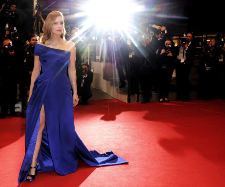 Jessica Chastain a illuminé le tapis rouge