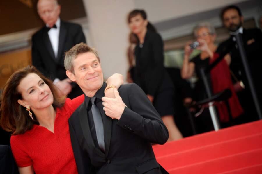 Carole Bouquet et Willem Dafoe (Le bouffon vert dans les films Spiderman)