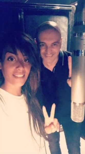 Amel Bent toujours, qui est de retour en studios !