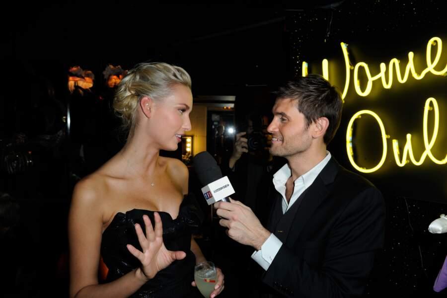 Adriana Cernanova et Christophe Beaugrand lors de la soirée anniversaire des 20 ans de Wonderbra