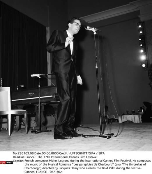 Michel Legrand au Festival de Cannes en 1964