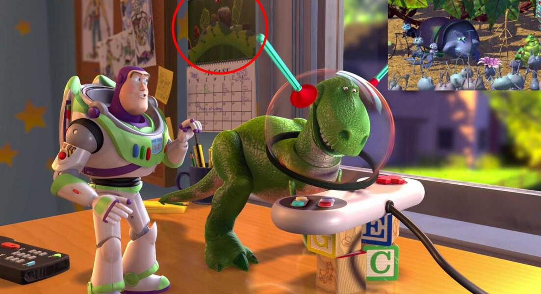 Toy Story 2 : Un joli calendrier 1001 pattes dans la chambre d'Andy
