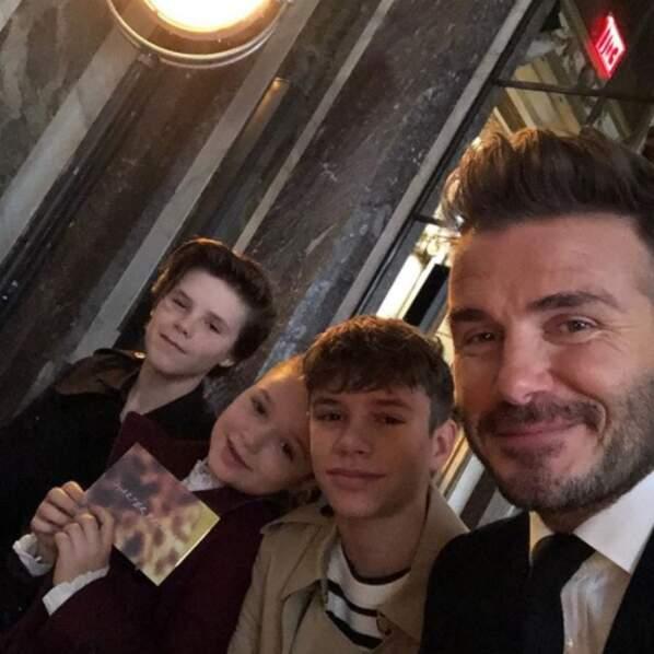 Toute la famille Beckham (ou presque) était à New York pour soutenir Victoria lors de son défilé.