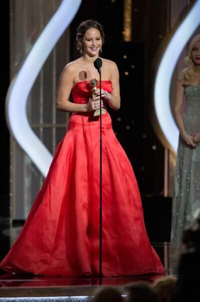 Révélée par Hunger games, Jennifer Lawrence a reçu le prix de la meilleure actrice de comédie (Happiness Therapy).