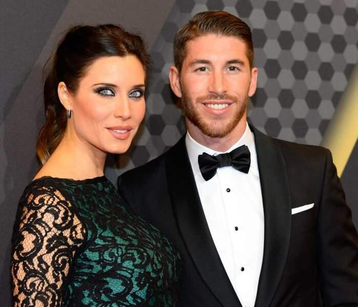 Sergio Ramos, défenseur espagnol du Real Madrid, et sa compagne Pilar Rubio