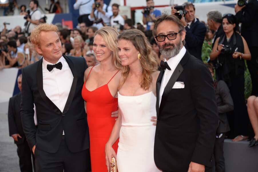 Jason Clarke, le réalisateur d'Everest Baltasar Kormakur et leurs épouses