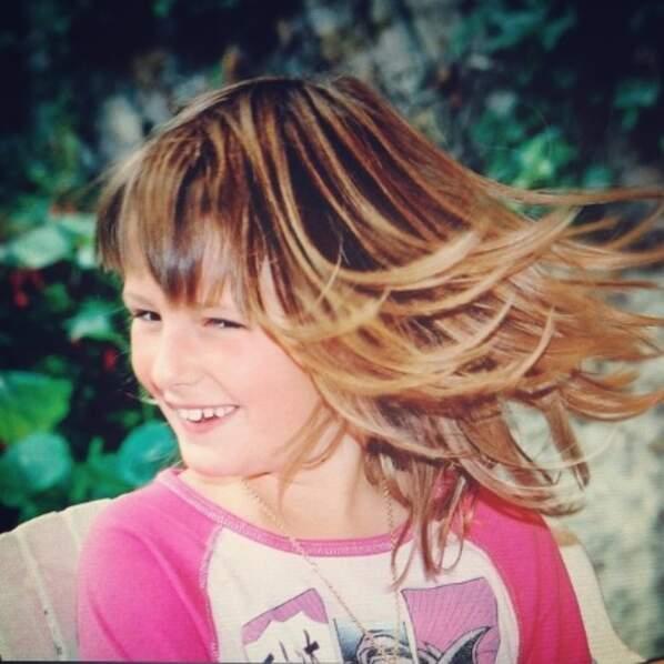 Une fille dans le vent...