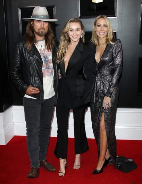 Miley Cyrus et ses parents Tish Cyrus et Billy Ray Cyrus  M