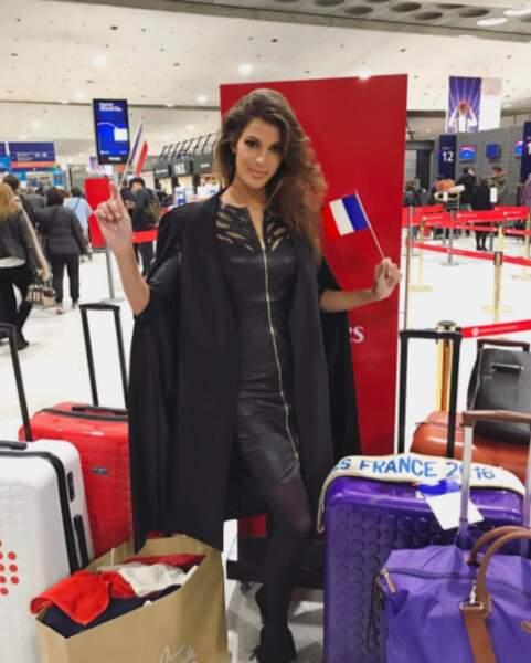 Iris Mittenaere s'est envolée pour Manille où se tiendra le concours Miss Univers