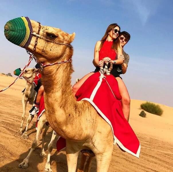 ... sur un dromadaire dans le désert...