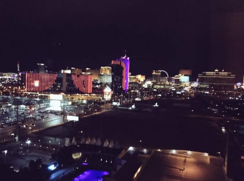 Arrivée à Las Vegas by night et ses lumières à gogo.