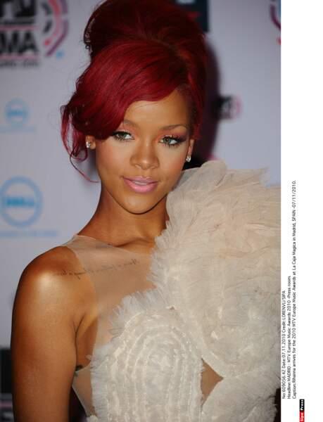 La chanteuse et actrice Rihanna est une grande fan de tatouages