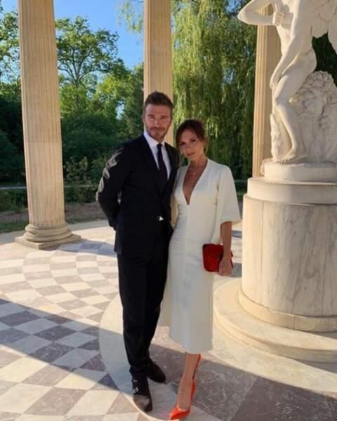 Chic et élégance pour les Beckham au Château de Versailles.