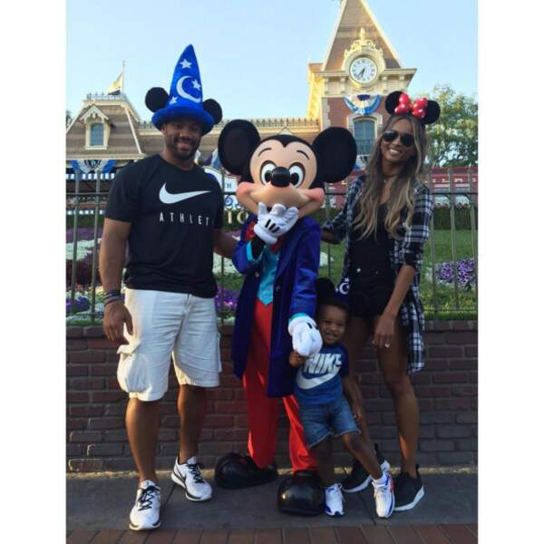 Ciara a préféré Disney pour sa petite famille.