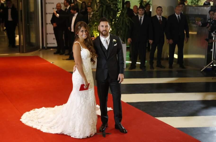 Mais tous les regards étaient tournés vers Lionel Messi et Antonella Roccuzzo