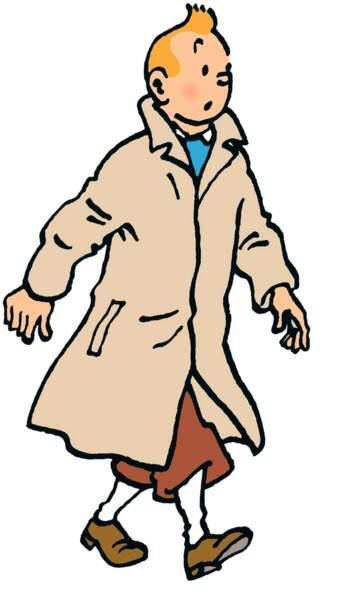 Et voici le petit reporter Tintin, créé par Hergé en 1926