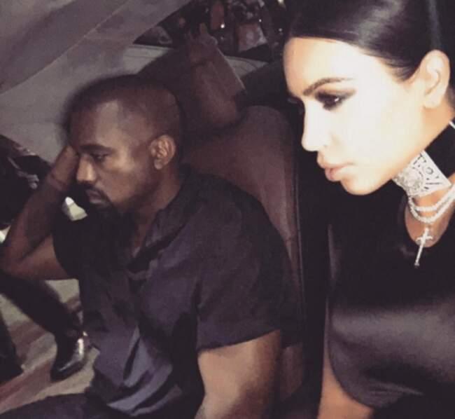 Par contre, c'est pas trop la joie du côté de Kanye West. Pauvre petit.
