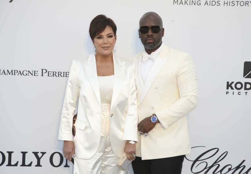 Kris Jenner et Corey Gamble au gala de l'amfAR