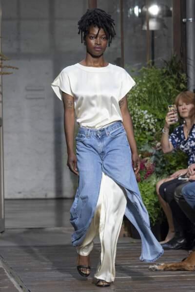 Du jean, des matières agréables à porter aussi bien pour les femmes
