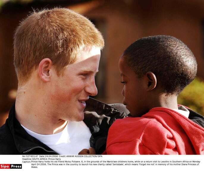 Harry en visite au Lesotho pour le lancement de son ONG : SENTEBALE