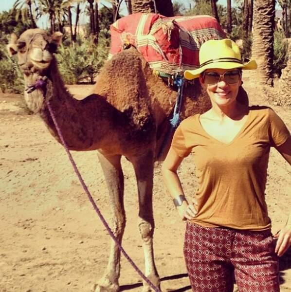 Là, elle était à Marrakech, car Cristina adore voyager.