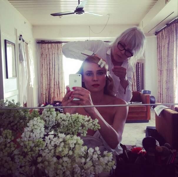 Selfie pré-Met Gala pour Diane Kruger