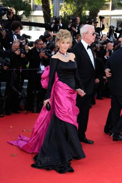 """Jane Fonda et Michael Caine lors de la montée des marches pour """"Youth"""""""