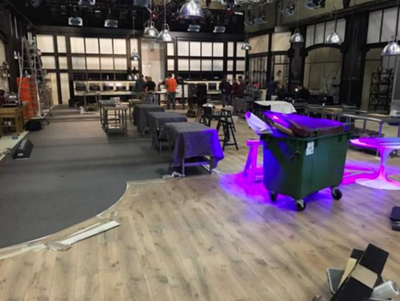 Voici le plateau de Top Chef à quelques heures du début du tournage...