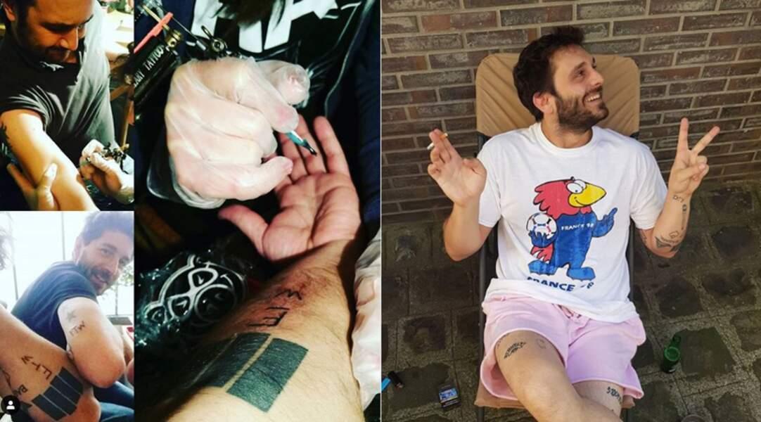 L'acteur Pio Marmaï a le corps très recouvert de tatouages