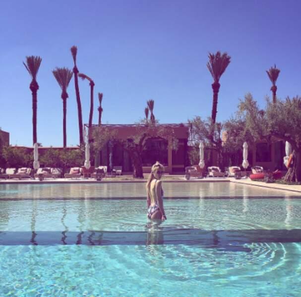 Une autre people à Marrakech : Victoria Monfort.