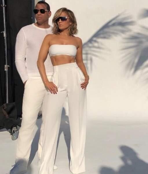 Jennifer Lopez et son fiancé Alex Rodriguez font bien la paire.
