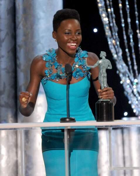 L'actrice récompensée lors de la 20ème cérémonie des Screen Actors Guild Awards (2014)