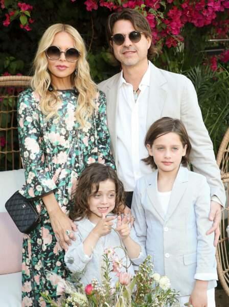 La styliste Rachel Zoe, ici avec mari et enfants, organisait comme chaque année sa ZOEasis Party à Coachella