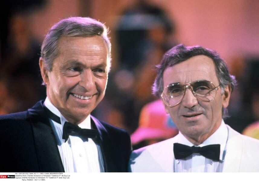 Charles Aznavour à l'émission Cadence 3 de Guy Lux en 1983