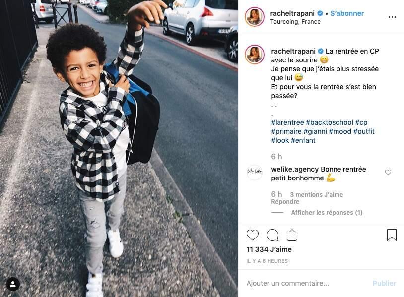 Rachel Trapani est plus stressée que son fils, qui entre au CP