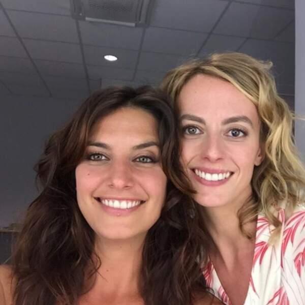 La team Plus belle la vie : Laetitia Milot et Sara Mortensen.