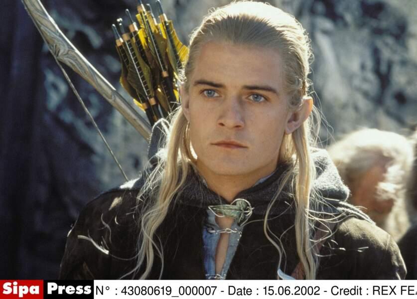 Le même Orlando Bloom, quand il jouait l'Elfe Legolas