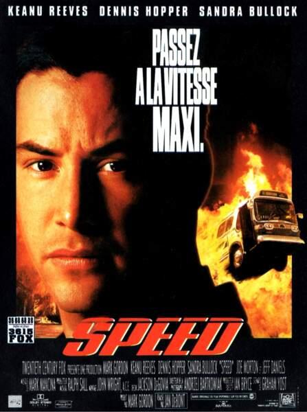 Speed, film qui a propulsé la carrière de Sandra Bullock et Keanu Reeves, s'appelle au Québec...