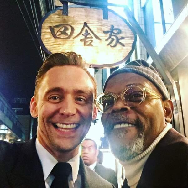 Tom Hiddleston, (ici avec Samuel L. Jackson), né le 9 février 1981