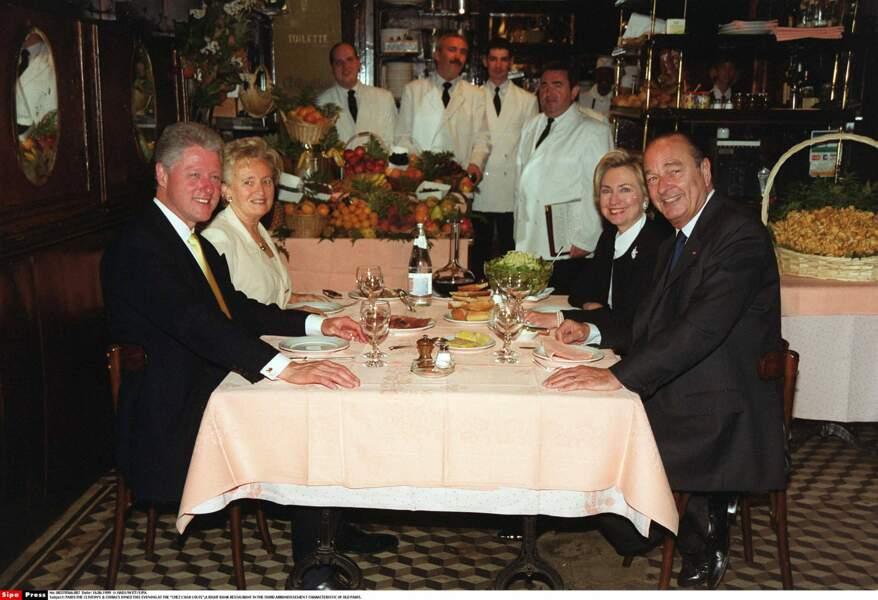 Le couple Clinton, très friand de cuisine française
