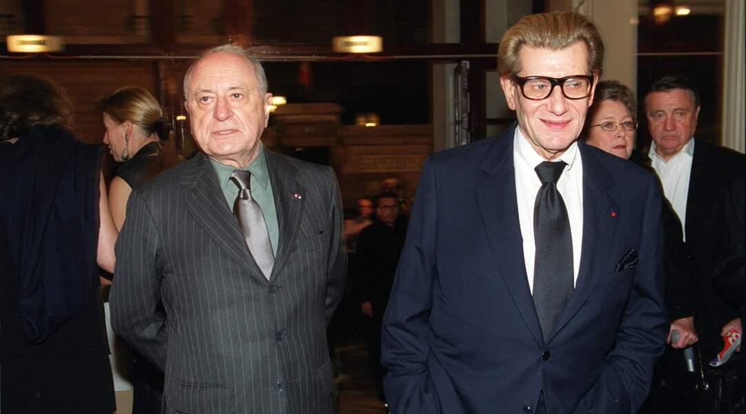 Pierre Bergé et Yves Saint Laurent, décédé le 1er juin 2008.