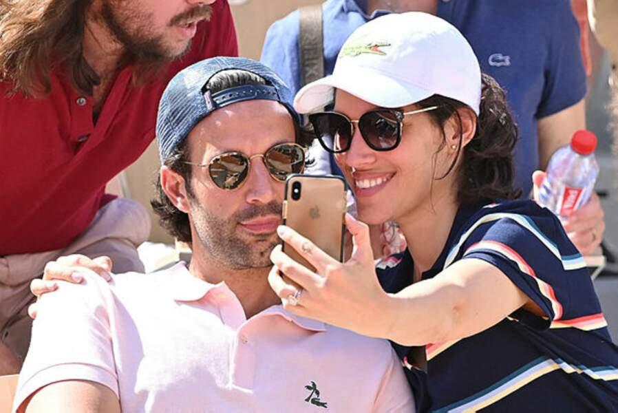 Laurie Cholewa en mode selfie avec son époux Greg. Et les matchs alors ?